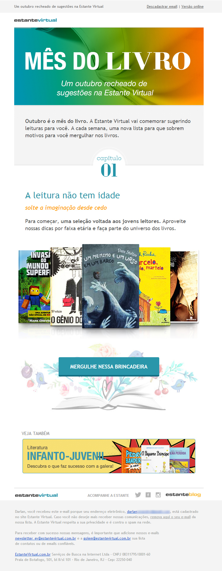 Email Marketing - Estante Virtual - Mês do Livro