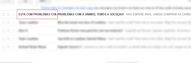 Nome do Remetente - Email Spam