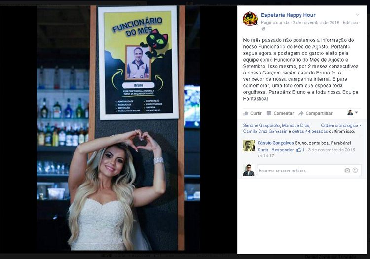 Campanhas de Marketing Arapongas - Funcionario do mês - espetaria happy hour