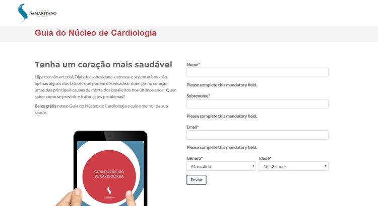 guia de cardiologia - exemplo de inbound marketing do hospital samaritano