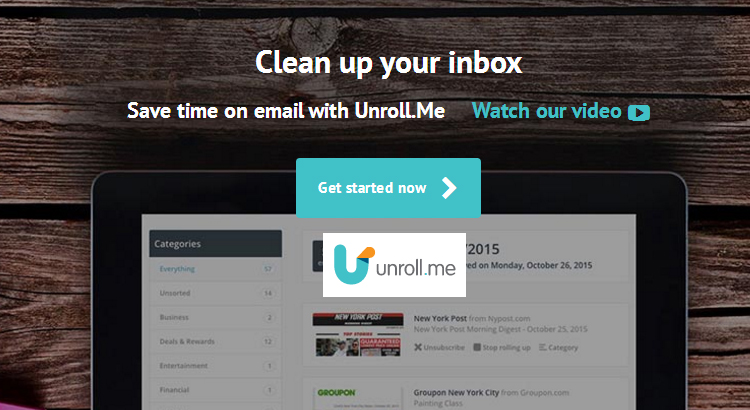 Unrollme - Sair do Spam