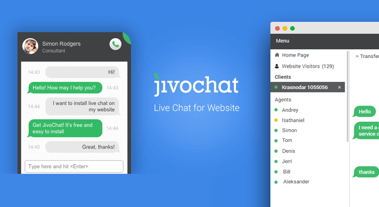 ferramenta de marketing digital - jivochat